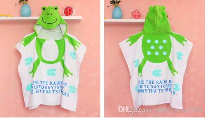 11 Styles Hooded Baby Girl Bathrobe 100% Cotton Baby Beach Gown Beach Towels Baby Cloak Cape Baby Bath Towel Kids Bath Robes