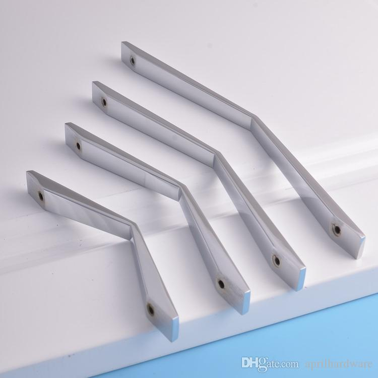 home garden new italian stylish chrome poilshed creative hardware hotel bedroom furniture kitchen door office drawer cabinet pull handles