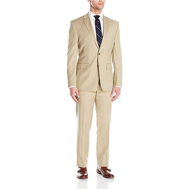 Custom Made Hot Sale Men's Slim Fit Two-Piece Wedding Suit Wedding Groom Formal Suits Men Suits Jacket+Pants L624