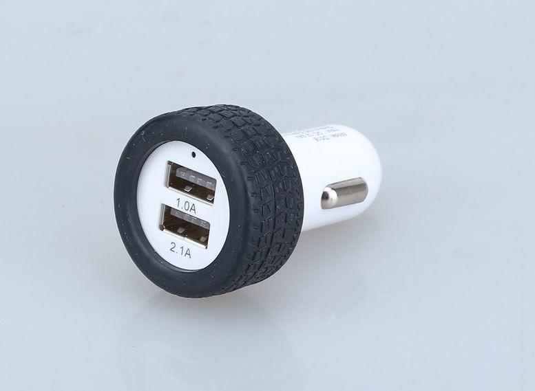 Универсальный 5V 2.1 A USB автомобильное зарядное устройство двойной небольшие шины форма автомобиля зарядный адаптер для смарт-телефона Mp3 Mp4 Tablet