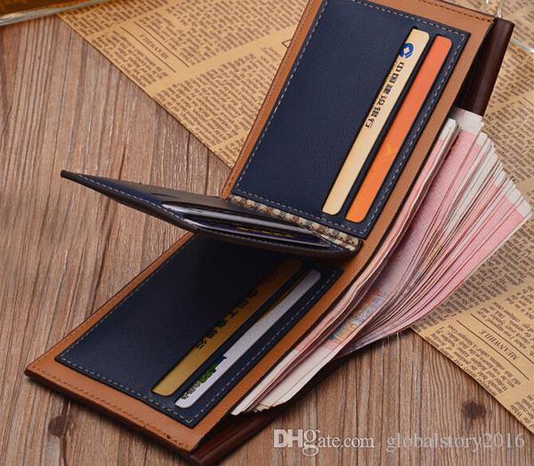 New Arrival PU Leather Wallets For Mens Designer Bifold Money Purse High quality Cluch Cente Party Traver Wallet