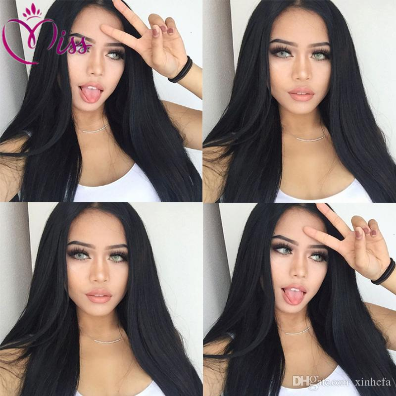 Long Straight Wig Glueless Full Lace Human Hair Wigs Middle/Free/Side Part Glueless Full Lace Wigs Lace Front Wig