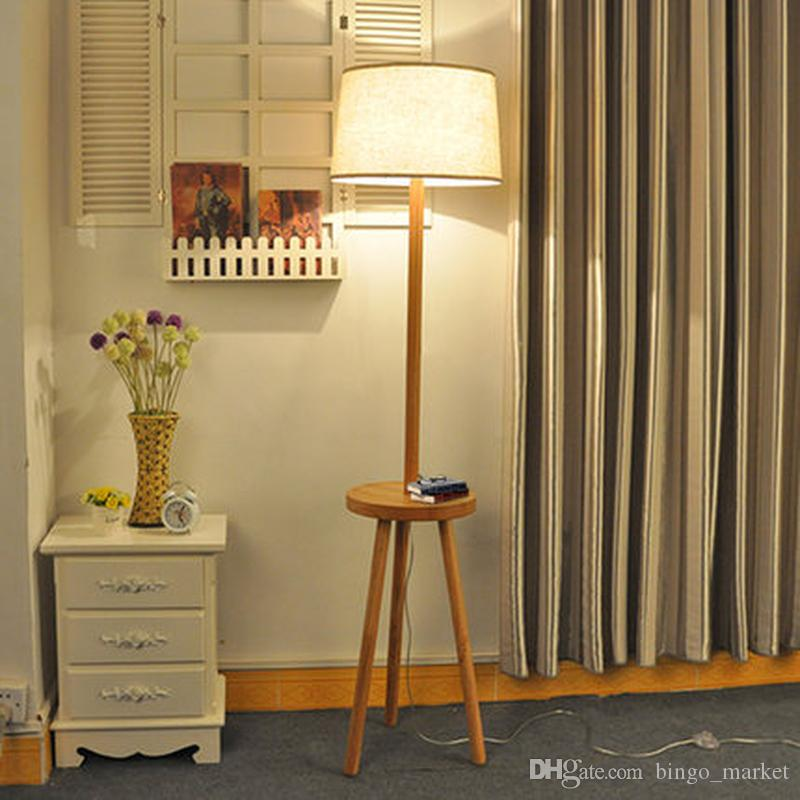 Compre Estilo Moderno Creativo Simple E27 Lámpara De Pie De Tela De ...