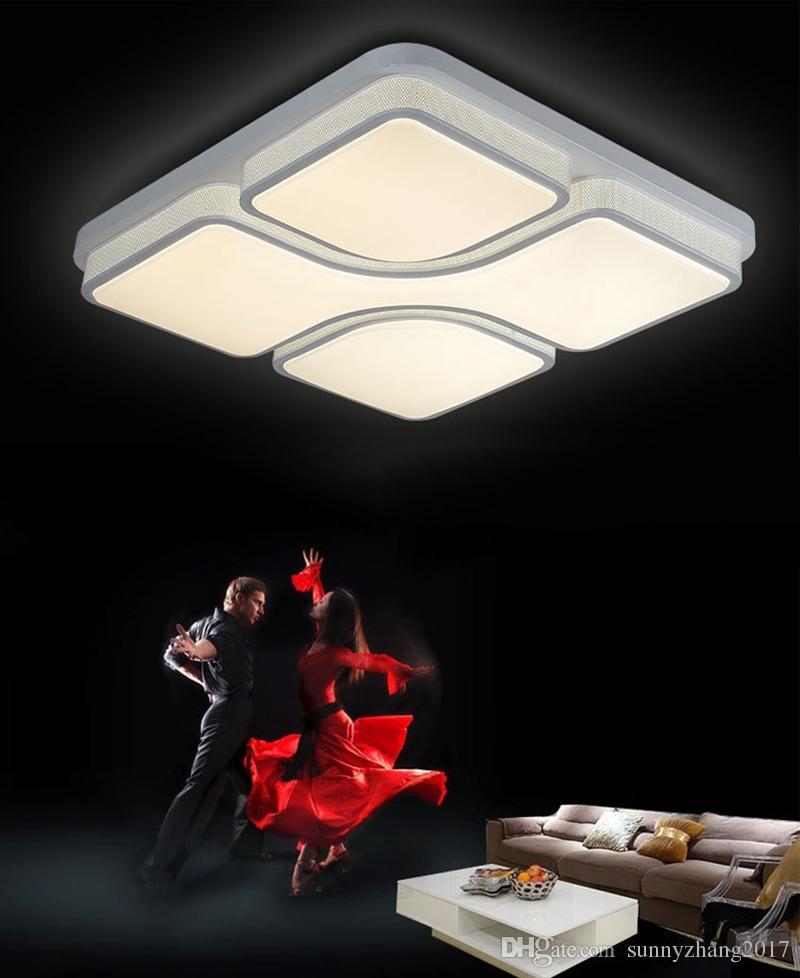 Led 빛 24W 36W 48W 현대지도 된 천장 빛 정착물 실내 기하학은 Lustres Lamparas 통 램프 가정 훈장을지도했다