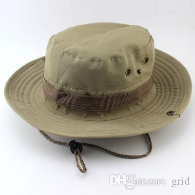 Camouflage wide-brimmed hat outdoor fisherman Bucket Hats Camo Wide Brim Sun Fishing cap Camping Hunting CS Tactical Gear
