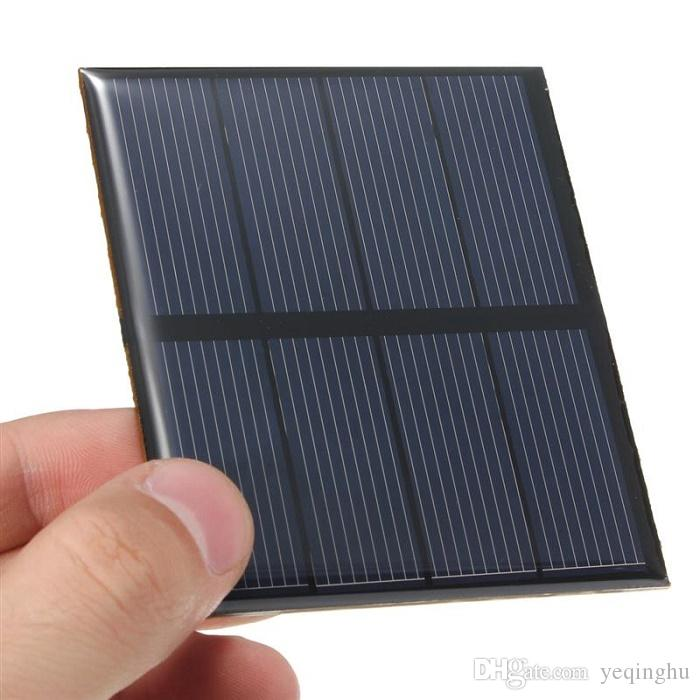 Hot 0.6W 2V Polycrystalline Epoxy Solar Panel Mini Solar Cell DIY Solar Module Education Kits Epoxy 82*70MM High Quality