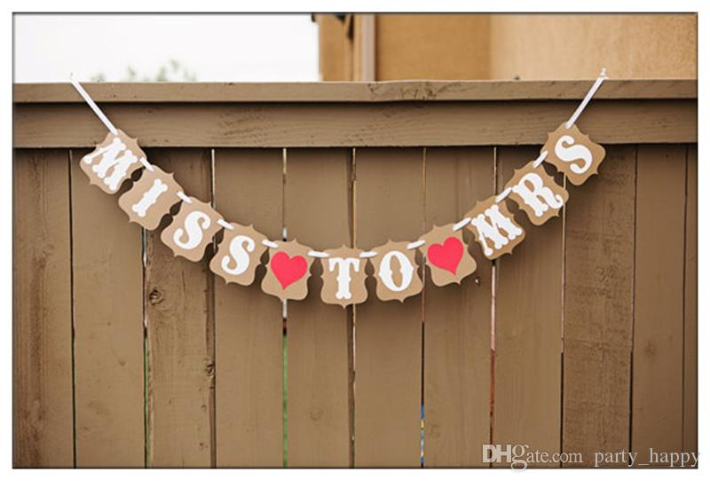 2016 Wedding Bunting Banners Card Photo Prop Wedding Decoration Letters Flag Wedding Props Wedding Decoration Supplies Party Supplies