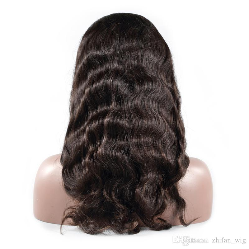 Z&F Hot Big Body Wave Human Hair Full Lace Wigs Bleached Knots Remy Virgin Hair Lace Wigs For Black Women