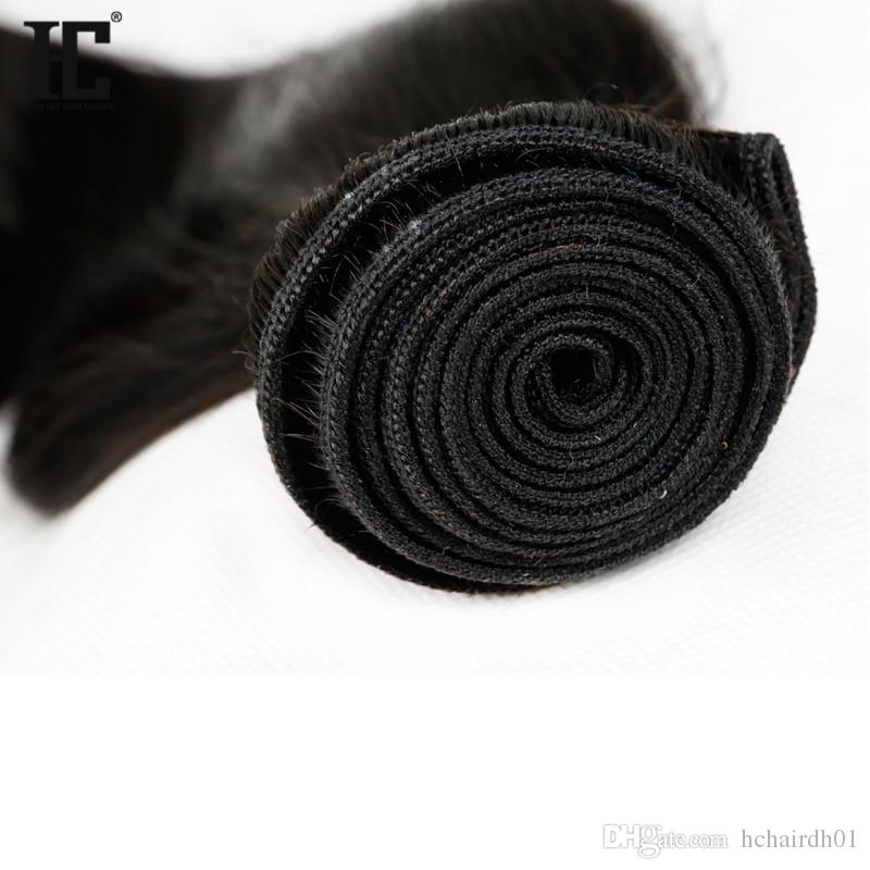 HC 헤어 제품 말레이시아 버진 헤어 스트레이트 인간의 머리카락 직조 자연 색상 / 처리되지 않은 스트레이트 버진 헤어 무료 배송