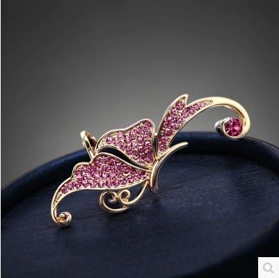 أزياء المرأة حجر الراين كريستال الفراشة أقراط الأذن الأصفاد كليب على القرط pendientes earcuff الأذن الكفة غير ثقب الأقراط والمجوهرات