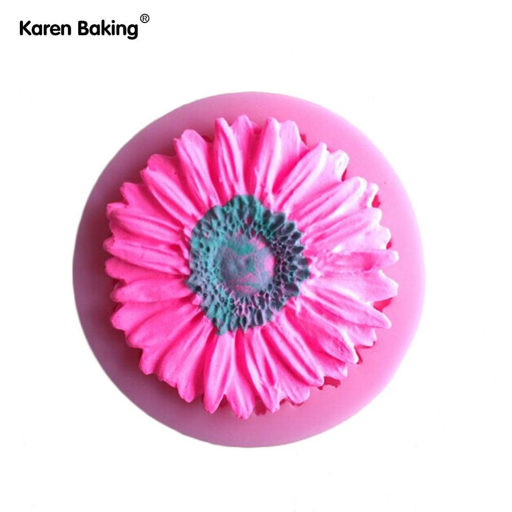 2018 Beautiful Sun Flower Cake Mold Silicone Baking Tools Kitchen