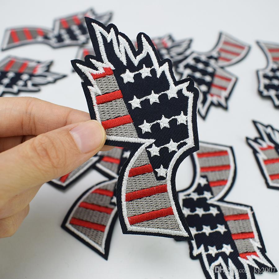 Number Seven Badge Aufnäher für Kleidung Taschen Eisen-on Transfer Applikationen Aufnäher für Jeans nähen auf Stickerei Flecken-DIY