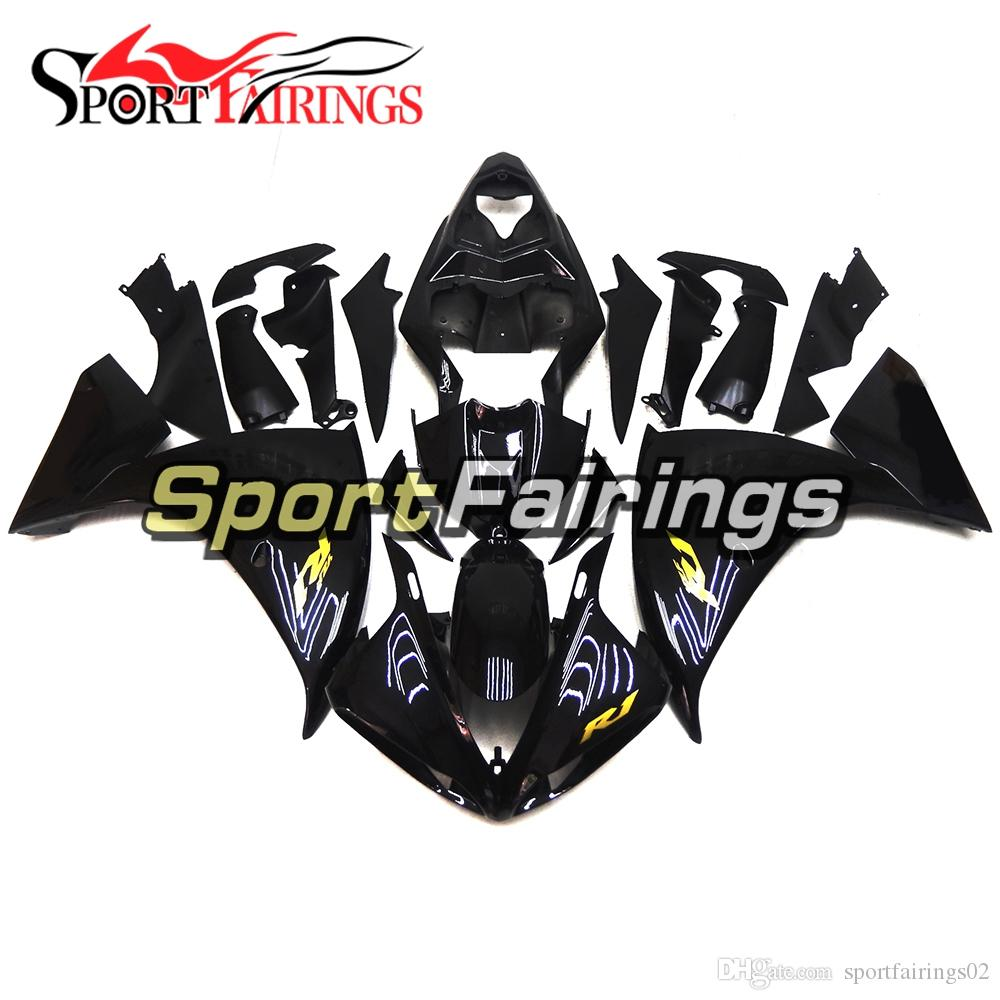 Gloss black gold decals injection fairings for yamaha yzf1000 yzf r1