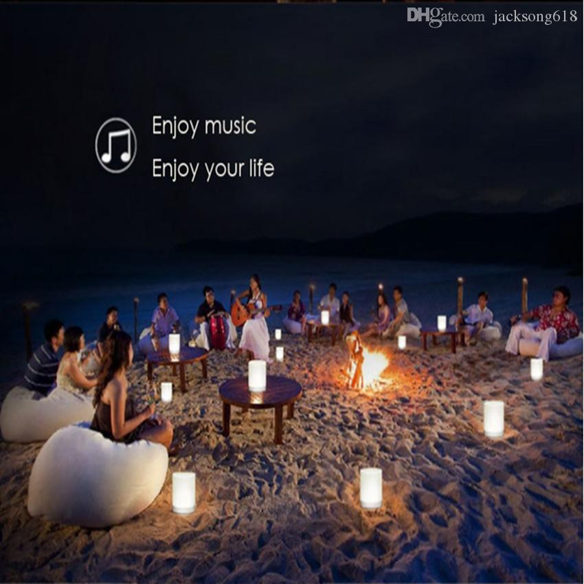 Hot Sales Colorful Touch LED Light Lamp With Bluetooth Speaker Hands-free Call Wireless TFCard Music Player Smart Speakers Subwoofers 5