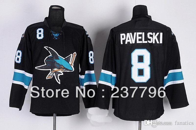 best 2013 hot sale fashion joe pavelski black jersey 8
