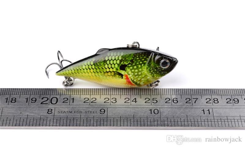 얕은 수채화 3D 플라스틱 눈을 가진 ABS 플라스틱 VIB 어업 유혹 8.6g 6.5cm 플라이 낚시 바이브라베이스 크랭크 미끼 낚시 태클