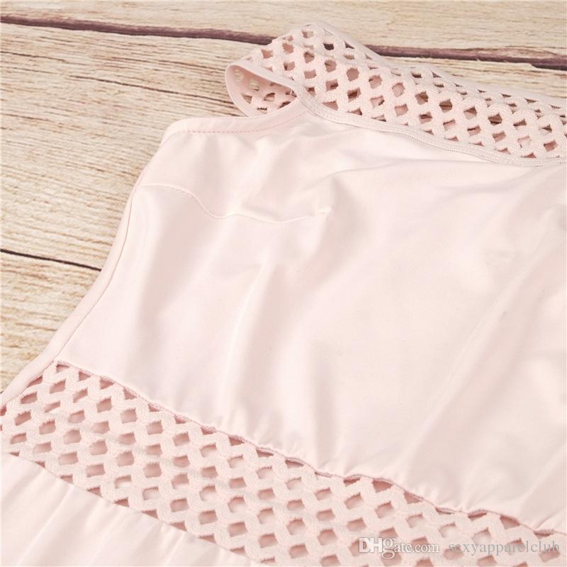 Sıcak Satış 2016 Yeni Varış Kadın S Yaz Elbiseler Seksi Slash Boyun Kolsuz Hollow Out Vintage Katı Parlak Renk Bodycon Streç Vestido