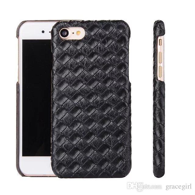 Funda de cuero duro de madera de Croco para Iphone X 8 7 Plus Cocodrilo Snake Knit Weave Fibra de carbono cubierta del teléfono