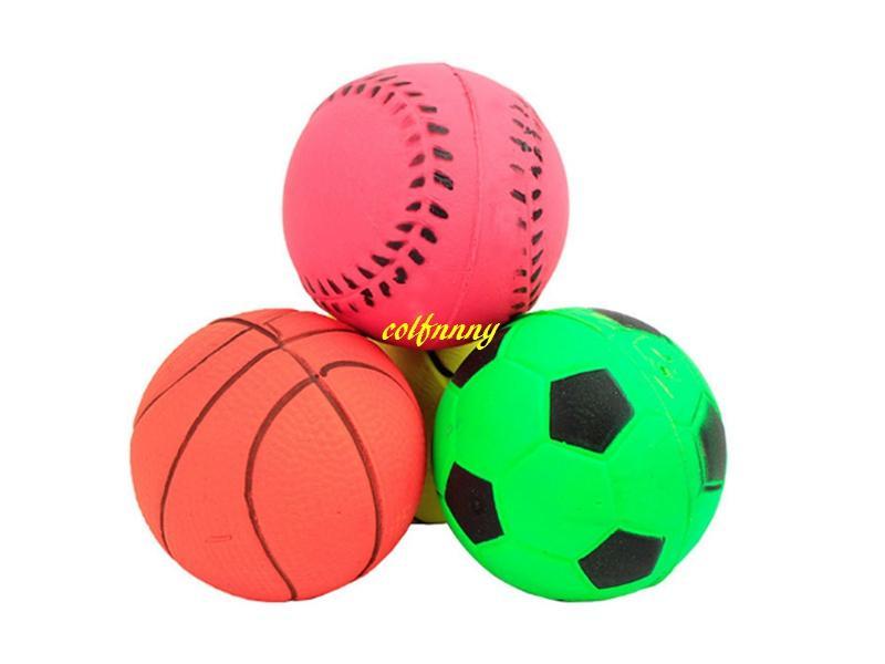 / schnelles Verschiffen 4.7cm 6.3cm bunter Gummischwanzhund-elastischer Ball-lustiger spielender großer Hundewurf spielt