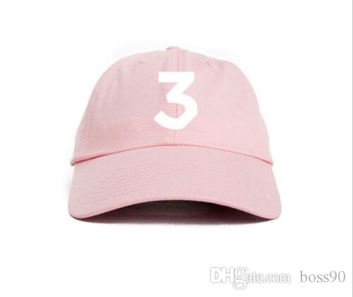 2c32bef67a3 Embroidered Chance the Rapper 3 Hat Black Baseball Cap Fashion Kanye ...