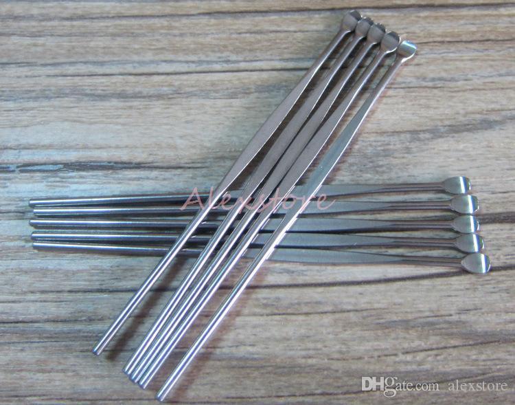 Wax dabber Werkzeuge Zerstäuber Tank Edelstahl 80mm dab Glas Rauchutensil für trockenen Kraut Titannagel für vape Verdampfer Federgroßverkauf DHL