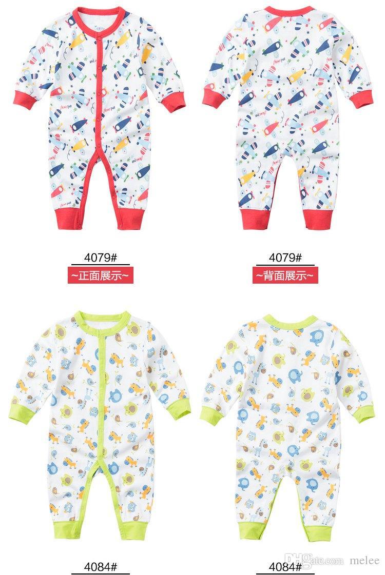 Kerstmis baby romper jumpsuit playsuit bodysuit snowsuit rompertjes kinderen eerste bewegingen herfst baby katoen lange mouw jumpsuits
