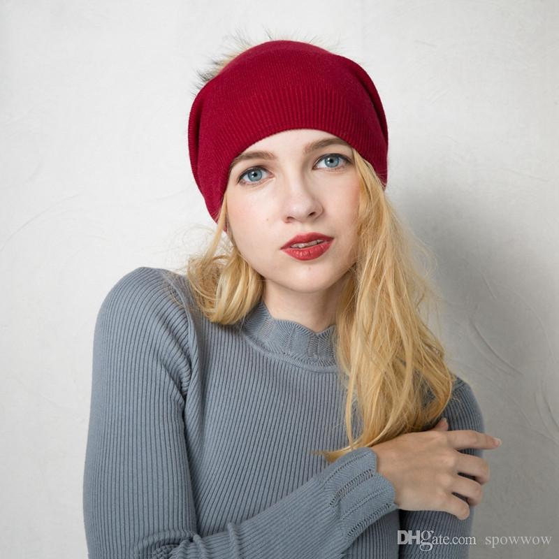 d243e8d6678 Womens Double Layer Casual Cashmere Cable Knitted Pom Pom Beanies Skullies  Stylish Hat Winter Warm A392 Beanies Skullies Cap Pom Pom Casual Hat Winter  Warm ...