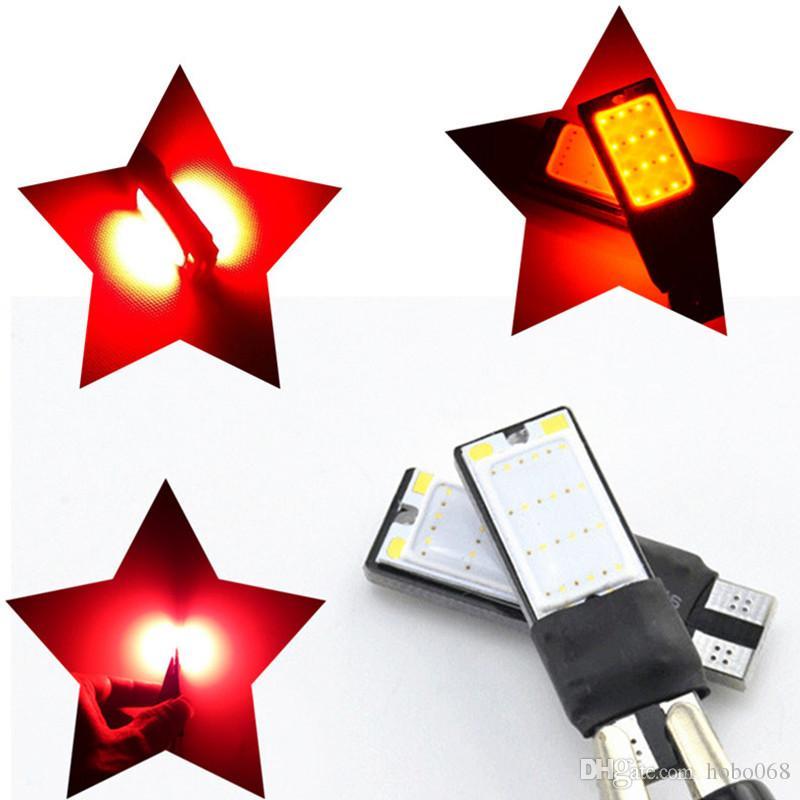 100 x CAR AUTO RED T10 LED 194 W5W COB Interior Lâmpada de backup Estacionamento Nevoeiro Brake Lamp