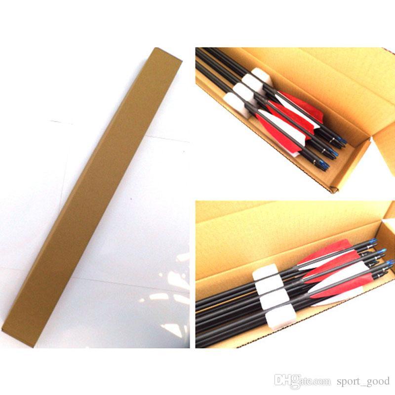 Setas de fibra de vidro com pontas substituíveis de pontos de campo para arco recurvo e flechas de arco composto de caça usadas