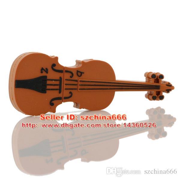 Fashion U Disk Pendrive Cartoon Musical Guitar Violin Piano Harmonica Musicial Note Pendriver Pen Drive 1GB 2GB 4GB 8GB 16GB USB Flash Drive