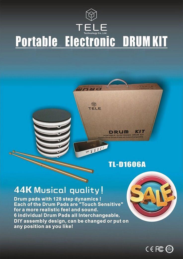 Accessori di gioco Sensori di movimento Elettronica Portatile elettronico KIT TAMBURI Set di batteria Batteria Percussioni Strumenti musicali Giocattoli Gif