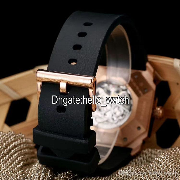 Neue 6 Stil Octo Finissimo Tourbillon 102719 Skeleton Automatische Herrenuhr Rose Gold Gummi-Riemen Hohe Qualität Gent neue Uhren