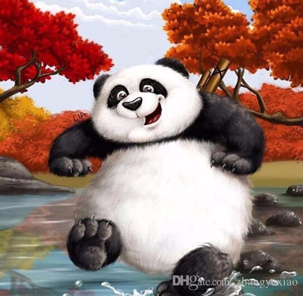 Новый DIY мозаика Алмаз живопись вышивки крестом наборы животных pandan полный смолы квадратный Алмаз вышивка рукоделие Home Decor zf0330