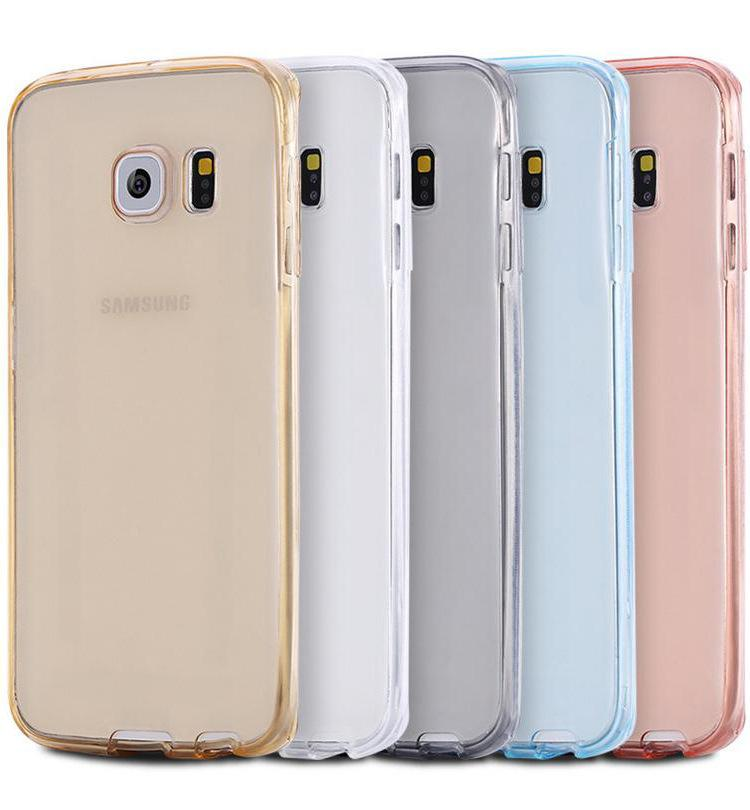 For iphone 7 Transparent Clear Full Coverage Case for Galaxy S7 iphone 6 6s plus 360 Degree Soft TPU Front + back Cover DHL Free SCA111