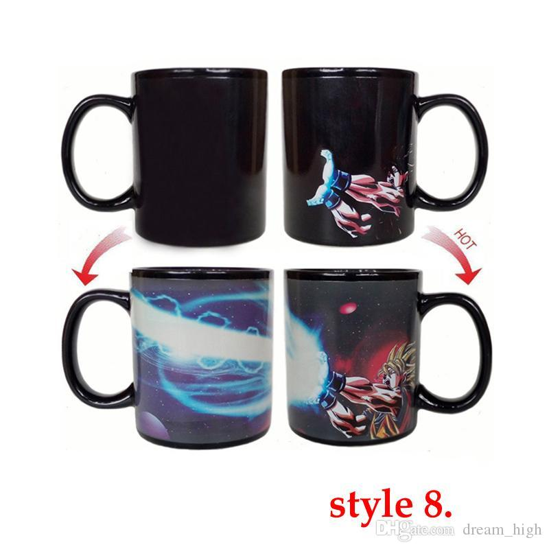 Dragon Ball Z Coffee Mug Goku Vegeta Heat Reactive Color Changing Cup Change Ceramic Caneca Cups Novelty Mugs Gift