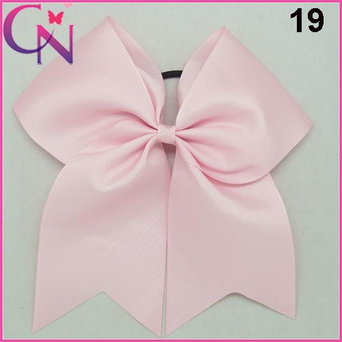 "8"" INCHES Handmade Solid Ribbon Cheer Bow For Girls Kids Boutique Large Cheerleading Hair Bow Children Hair Accessories"