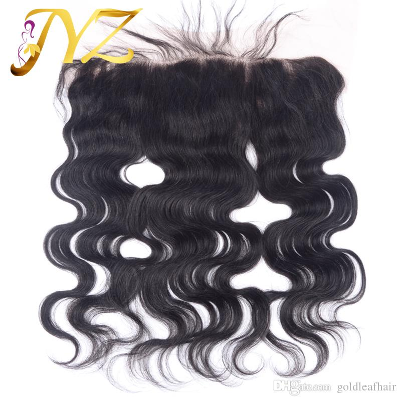 Fast Delivery Brazilian Virgin Human Hair Lace Frontal With Bundles Natural Color Brazilan Hair Body Wave With 13X4 Human Hair Lace Frontal