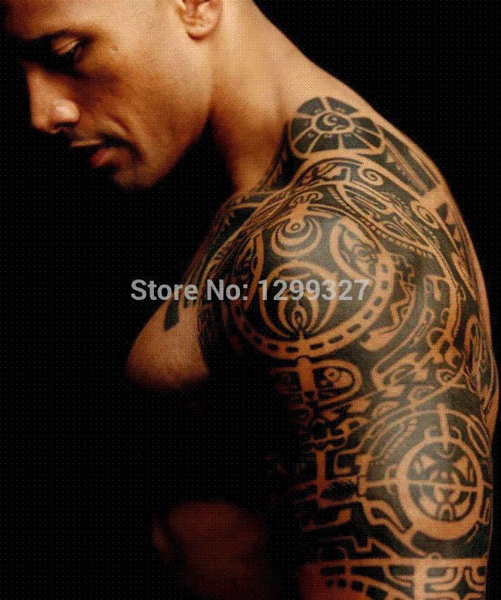 Fashion Crime Upper Arm Shawl Large Waterproof Temporary Tattoo