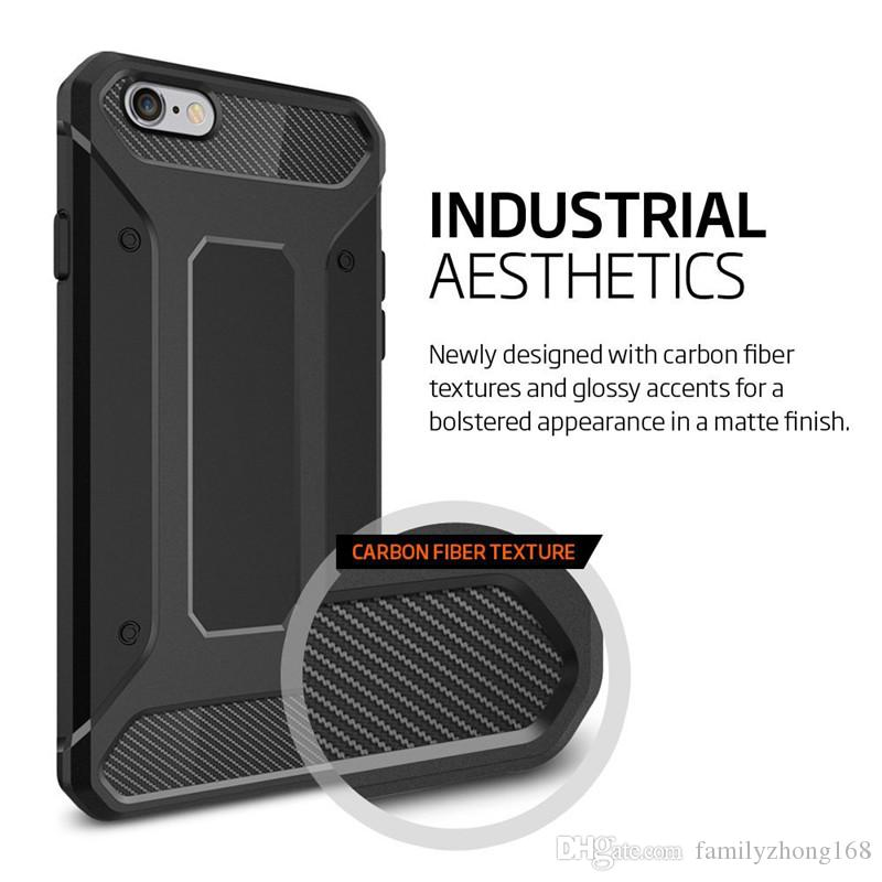 2016 NEW For iphone 7 SGP Rugged Armor Case Soft TPU Carbon Fiber Shockproof Shell for Samsung S7 S6 Edge Plus Note7 5 with Retail Box 9I-SW