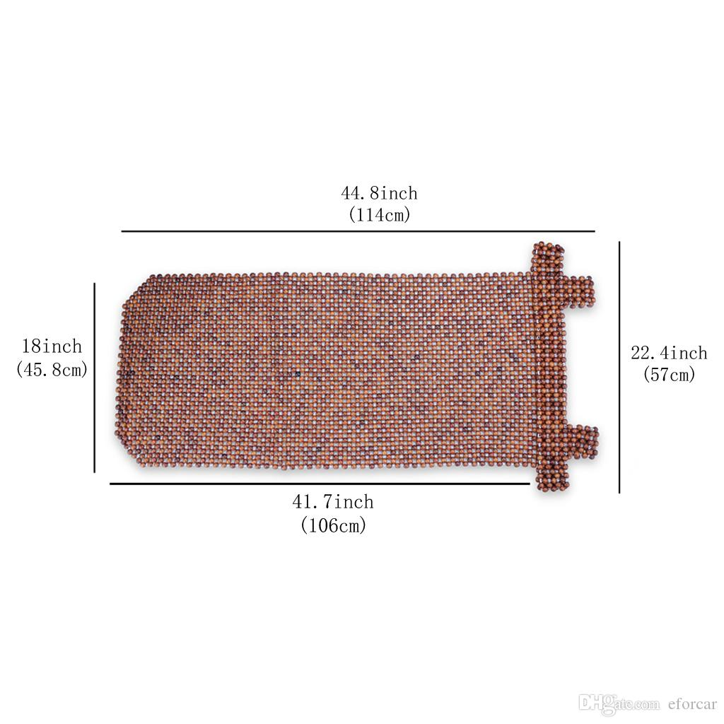 وسادة مقعد من الخرز الخشبي الطبيعي للسيارة - مساج مريح ممتاز ، يقلل من التعب في السيارة أو المقعد أو المكتب