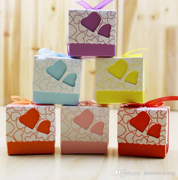 Small Chocolate Diy Beautiful Candy Box Wedding Favor Gift Boxes ...