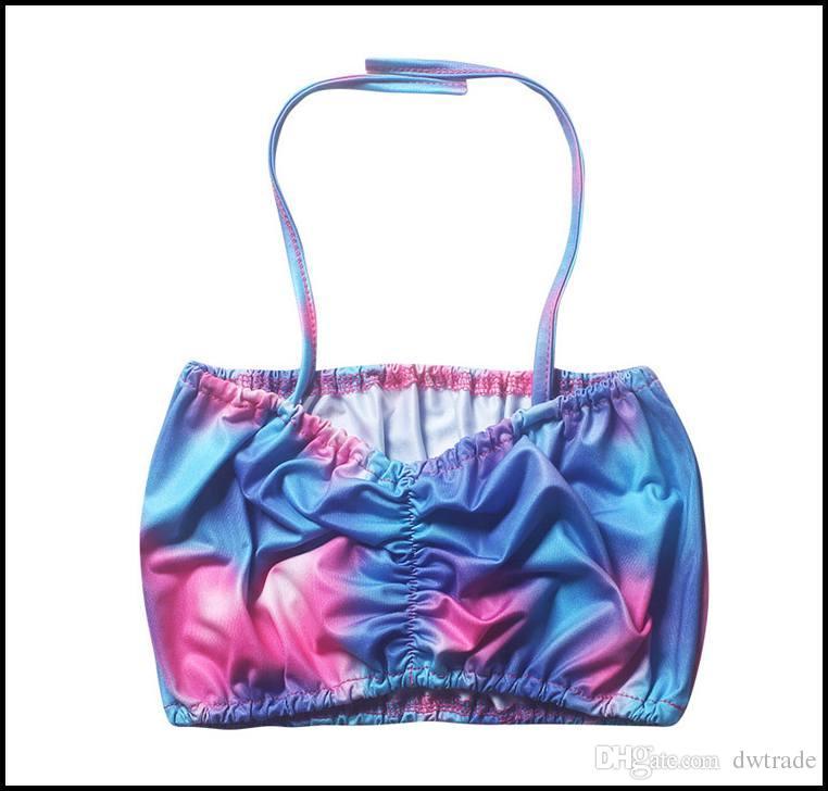 Prettybaby أطفال بنات بيكيني ملابس السباحة الملونة الشمس أعلى + حورية البحر الذيل 2 قطع مجموعة الدعاوى حمام السباحة ارتداء اللباس Pt0392 #