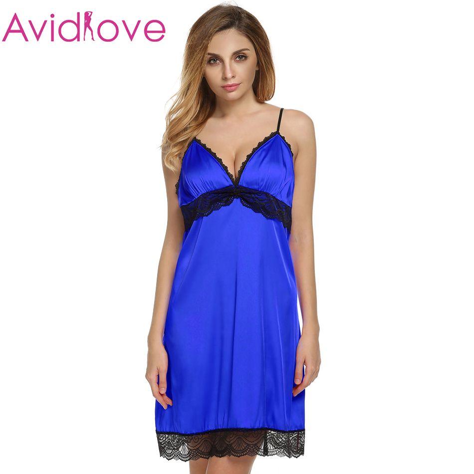 7b96994ac6f Wholesale-Ekouaer Sexy Sleepwear Female Temptation Nightgown Women s ...