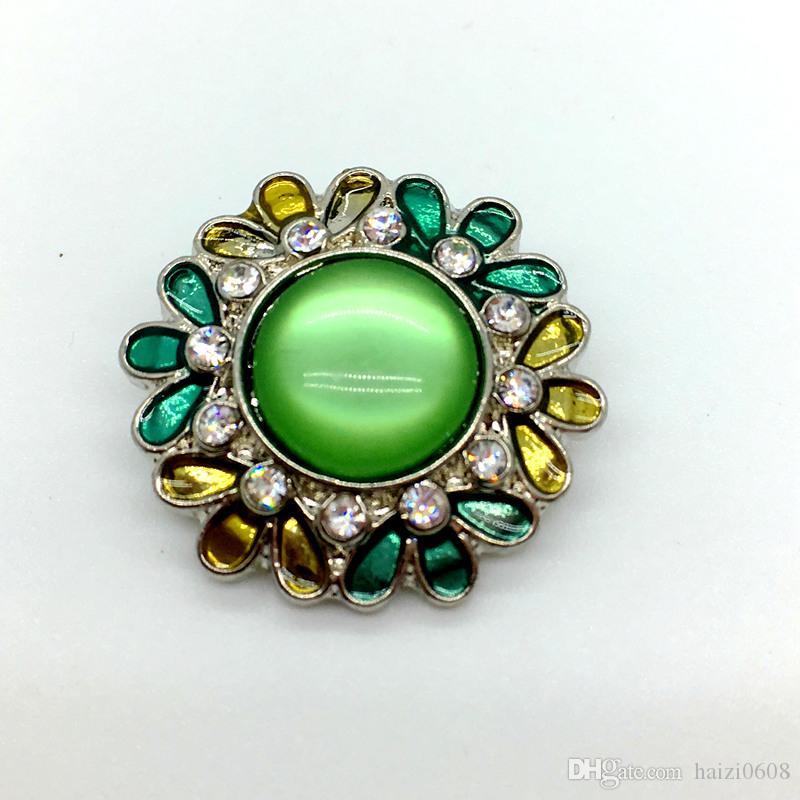 Botón a presión Noosa de 18 mm Botón a presión de jengibre de diamantes de imitación para Noosa Pulsera Joyería intercambiable 3 Estilo mixto para pulsera de Noosa
