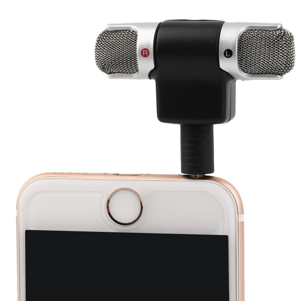 ECM-DS70P Портативный мини-микрофон цифровой стерео микрофон двойной саундтрек для рекордера ПК мобильный телефон новое прибытие