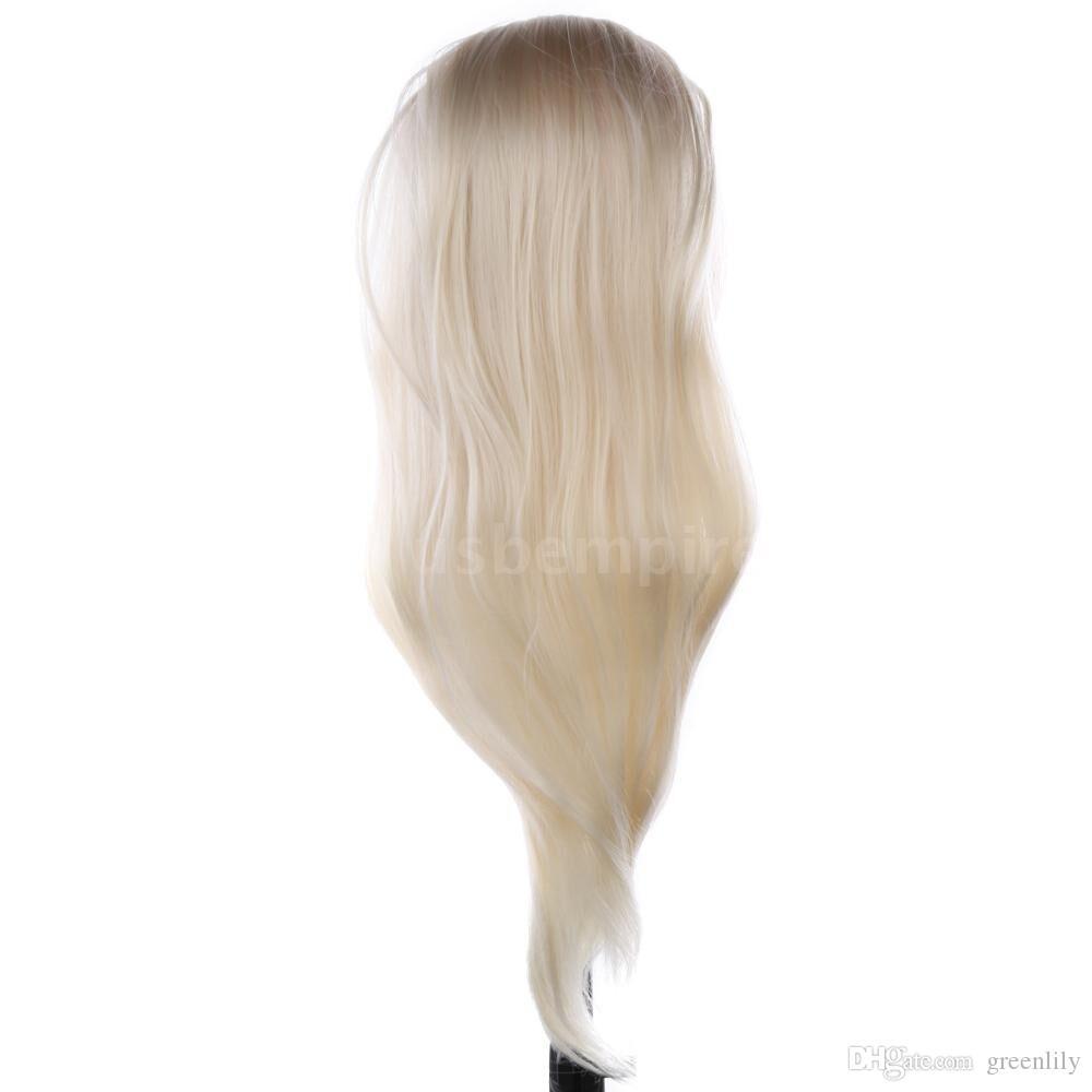 Mannequin à cheveux longs avec mannequin de 22 pouces pour la formation en coiffure
