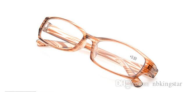 Factory Outlet Fashion PC Rack Glasses Strip Double Dental Reading Glasses HD Resin Glasses + 1.00 + 1.50 + 2.00 + 2.50 + 3.00 +3.50 +4.00 /