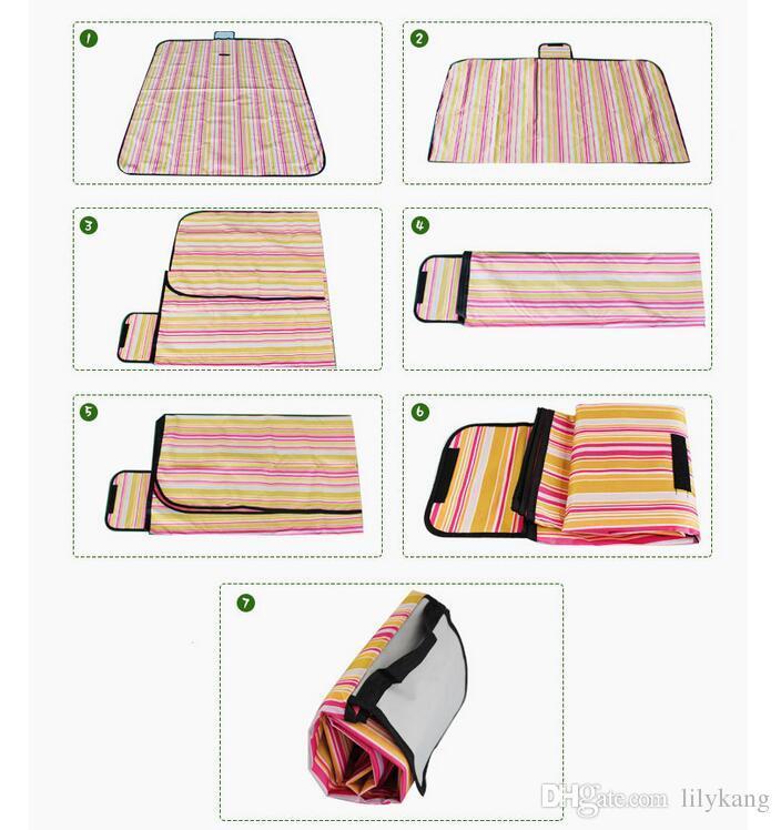 Portable Waterproof Picnic Blankets Foldable outdoor traving Beach Mat baby play mat camping use picnic pad