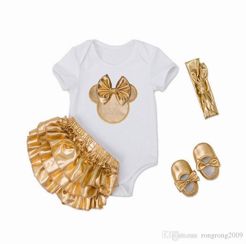 Säuglingsmädchen Kleidung Set Neugeborene Babyohren Bodysuits Weihnachtskleidung Mode Outfits Kleinkinder Kleidung E7670