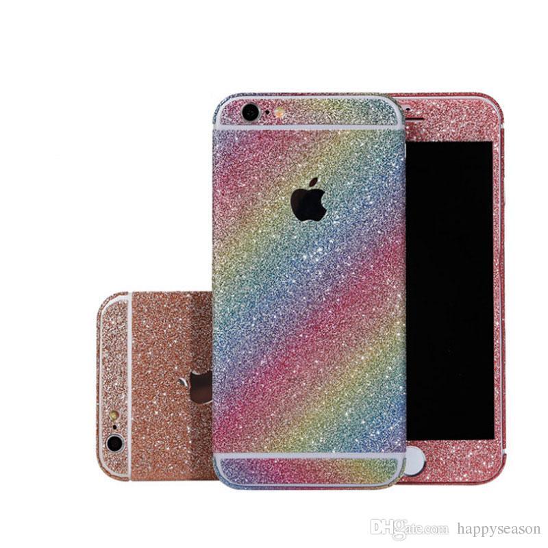 7b176060613 Compre Glitter Cellphone Sticker Fullbody Skin Matte Calcomanías Protector  De La Contraportada Bling Para IPhone 8/7 / 6s / 6 Plus A $1.01 Del  Happyseason ...